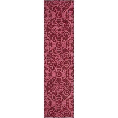 Kouerga Wool Hand-Tufted Red Area Rug Rug Size: Runner 23 x 13
