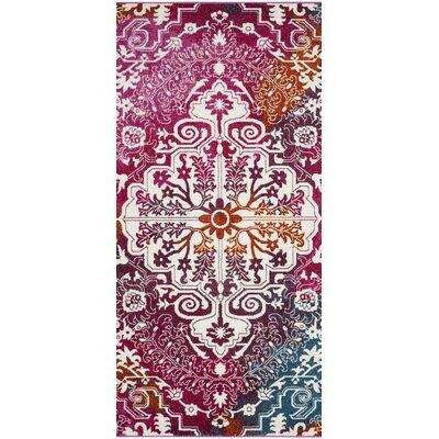 Shaurya Beige/Pink Area Rug Rug Size: Runner 22 x 8