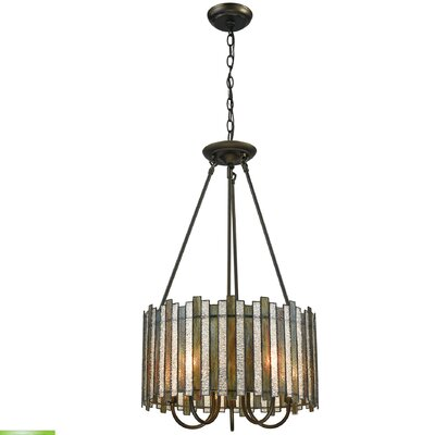Celia 5-Light Drum Chandelier Bulb Type: 4.8W LED