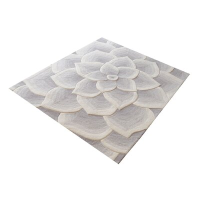 Lewistown Hand-Tufted Gray/White Area Rug Rug Size: 3 x 5