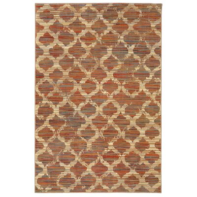 Shimizu Red/Beige Area Rug Rug Size: Rectangle 53 x 710