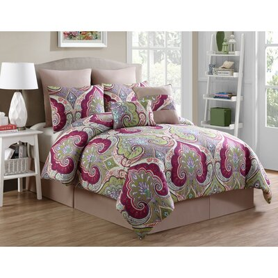 Douam 8 Piece Comforter Set Size: King