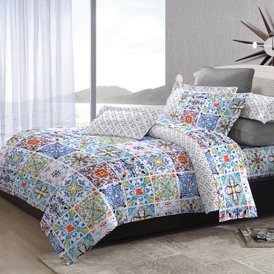 Alda 3 Piece Duvet Cover Set Size: King
