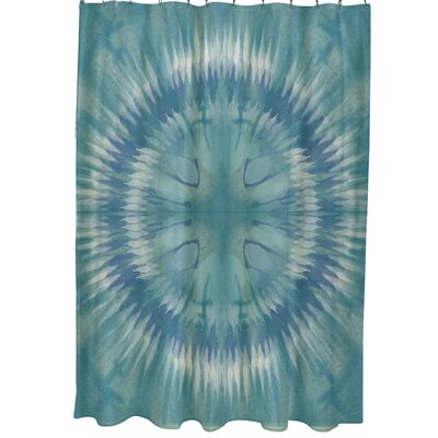 Armstrong Shibori Burst Shower Curtain Color: Green