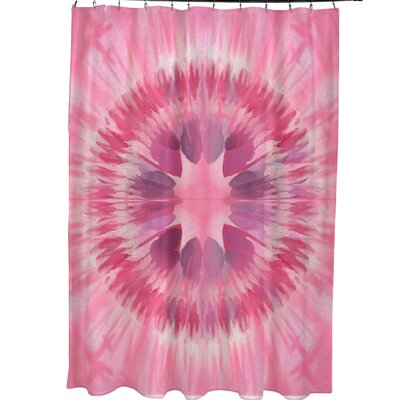 Armstrong Shibori Burst Shower Curtain Color: Pink