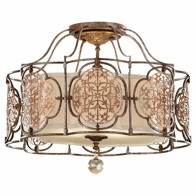 Ferdinand 3-Light Semi Flush Mount