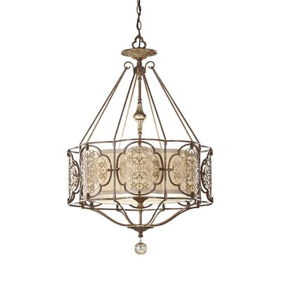 Villeroy 3-Light Drum Chandelier