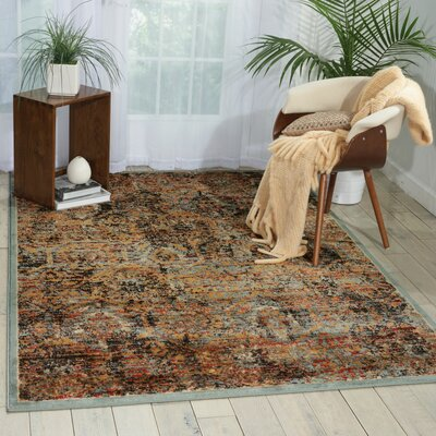 Shimer Blue/Orange Area Rug