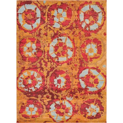 Shemar Orange Area Rug Rug Size: Runner 27 x 10