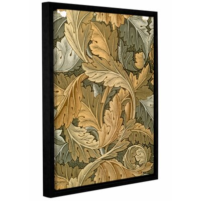 'Acanthus Wallpaper, 1875' Framed Graphic Art on Wrapped Canvas Size: 10
