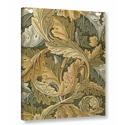 'Acanthus Wallpaper, 1875' Graphic Art on Wrapped Canvas Size: 10