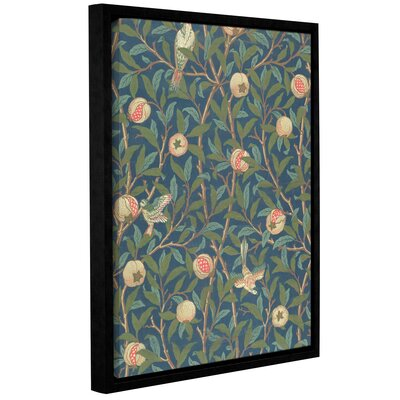 'Bird and Pomegranate Wallpaper Design, 1926' Framed Graphic Art on Wrapped Canvas Size: 10