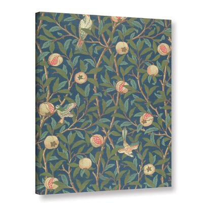 'Bird and Pomegranate Wallpaper Design, 1926' Graphic Art on Wrapped Canvas Size: 10