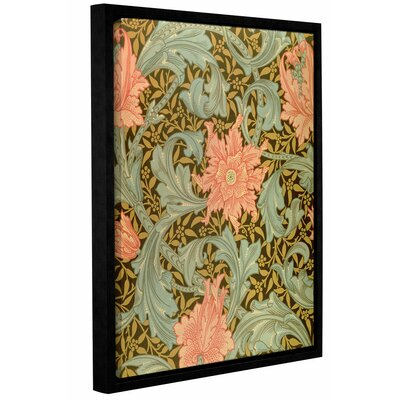 'Single Stem Wallpaper Design' Framed Graphic Art on Wrapped Canvas Size: 10