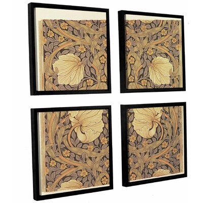 Pimpernel Wallpaper Design, 1876 4 Piece Framed Graphic Art on anvas Set