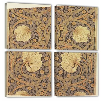 Pimpernel Wallpaper Design, 1876 4 Piece Graphic Art on Wrapped Canvas Set