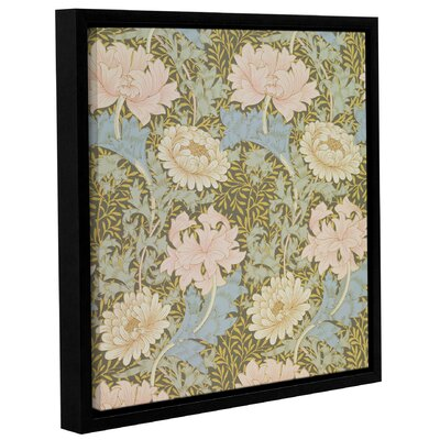 'Chrysanthemum Wallpaper Design, 1876' 2 Framed Graphic Art on Wrapped Canvas Size: 10