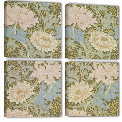'Chrysanthemum Wallpaper Design, 1876 2' 4 Piece Graphic Art on Wrapped Canvas Set Size: 36