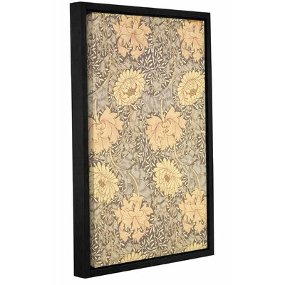 'Chrysanthemum Wallpaper Design, 1876' Framed Graphic Art on Wrapped Canvas Size: 12