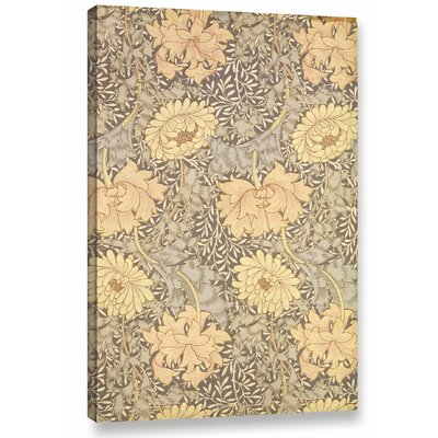 'Chrysanthemum Wallpaper Design, 1876' Graphic Art on Wrapped Canvas Size: 12