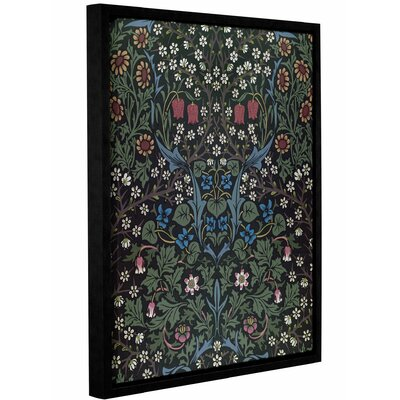 'Blackthorn Wallpaper Design, 1892' Framed Graphic Art on Wrapped Canvas Size: 10