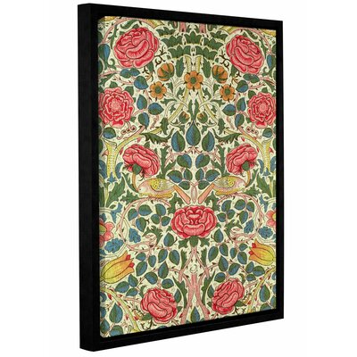 Rose 1883 Framed Graphic Art on Wrapped Canvas