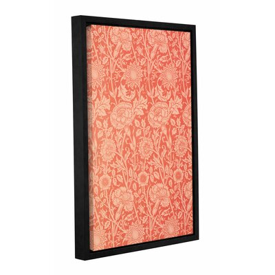 Pink and Rose Wallpaper Design, 1891 Framed Graphic Art on Wrapped Canvas