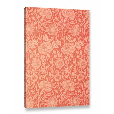 Pink and Rose Wallpaper Design, 1891 Graphic Art on Wrapped Canvas
