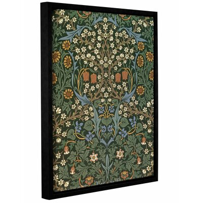 'Blackthorn Wallpaper, 1892' Framed Graphic Art on Wrapped Canvas Size: 10