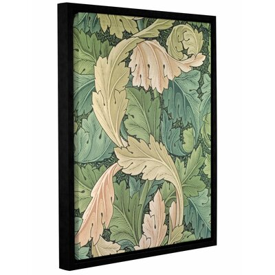 'Acanthus Wallpaper Design, 1875' Framed Graphic Art on Wrapped Canvas Size: 10