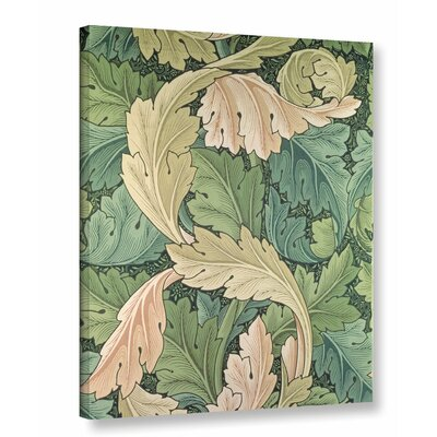 'Acanthus Wallpaper Design, 1875' Graphic Art on Wrapped Canvas Size: 10