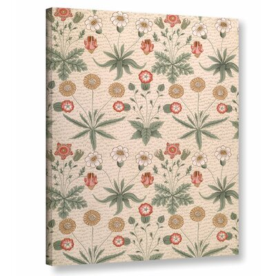 'Daisy, First Morris Design for Wallpaper, 1864' Graphic Art on Wrapped Canvas Size: 10