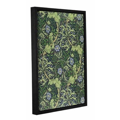 Seaweed Wallpaper Design, 1901 Framed Graphic Art on Wrapped Canvas