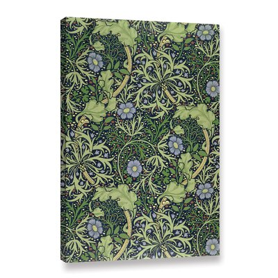 'Seaweed Wallpaper Design, 1901' Graphic Art on Wrapped Canvas Size: 12