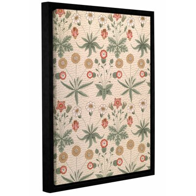'Daisy, First Morris Design for Wallpaper, 1864' Framed Graphic Art on Wrapped Canvas Size: 10