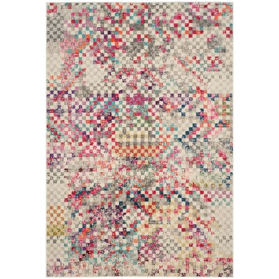 Elston Grey/Multi Area Rug Rug Size: 51 x 77