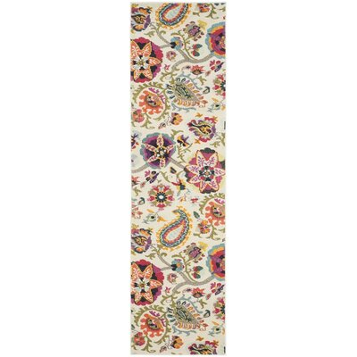 Crosier Ivory/Multi Area Rug Rug Size: Runner 22 x 14