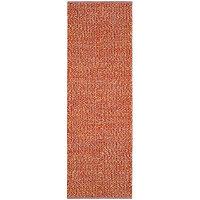 Figuig Hand-Woven Orange/Red Area Rug Rug Size: Rectangle 6 x 9