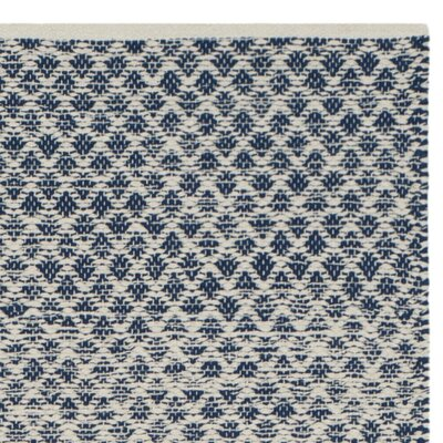 Margie Hand-Woven Navy/Ivory Area Rug Rug Size: Rectangle 8 x 10