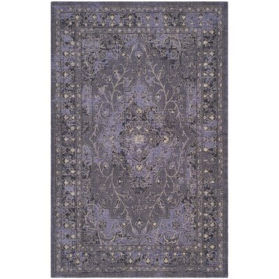 Port Laguerre Purple Area Rug Rug Size: 4 x 6