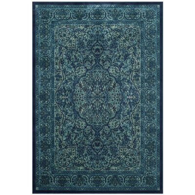 Goshen Blue Area Rug Rug Size: Rectangle 27 x 4