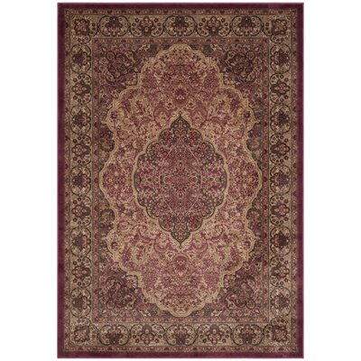 Goshen Rose Area Rug Rug Size: Rectangle 8 x 112
