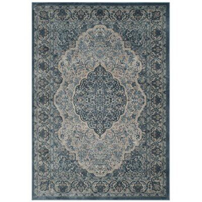 Goshen Gray/Blue Area Rug Rug Size: Rectangle 4 x 57