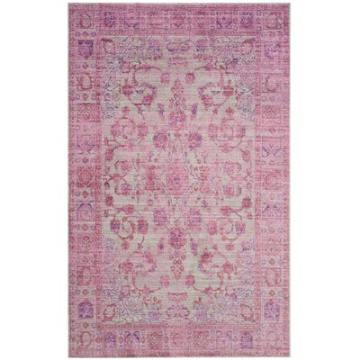 Esmeyer Purple Area Rug Rug Size: Rectangle 4 x 6