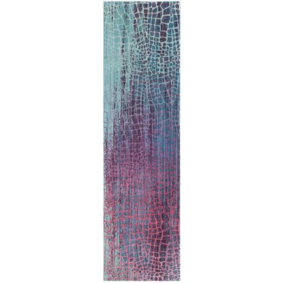 Tilburg Blue/Purple Area Rug Rug Size: Runner 23 x 6