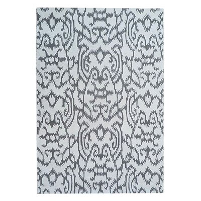 Adolphus Hand-Tufted White/Gray Area Rug Rug Size: 5 x 8