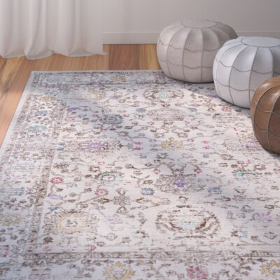 Dondre Beige/Brown Area Rug Rug Size: Rectangle 52 x 76