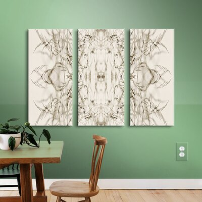 Wallpaper I 3 Piece Graphic Art on Wrapped Canvas Set Size: 18