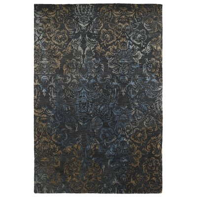 Browning Hand-Tufted Black Area Rug Rug Size: 36 x 56