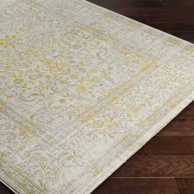 Anil Yellow / Beige Area Rug Rug Size: Rectangle 76 x 106